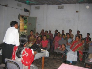 Health awareness session at community level