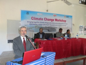 Professor Will Steffen, a Climate Change Scientist and Researcher giving his presentation