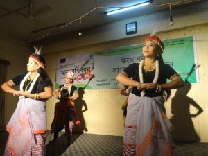 Manipuri cultural team is performing Manipuri traditional dance 'Lai Haraoba'